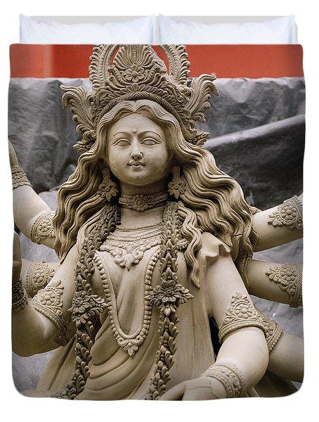 Queen Durga Duvet Cover by Shaun Higson