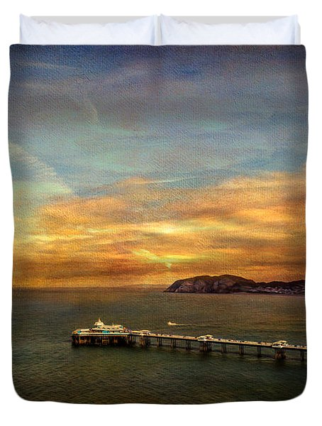 Queen of the Welsh Resorts Duvet Cover by Adrian Evans