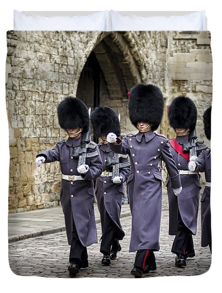 Queens Guard Duvet Cover by Heather Applegate