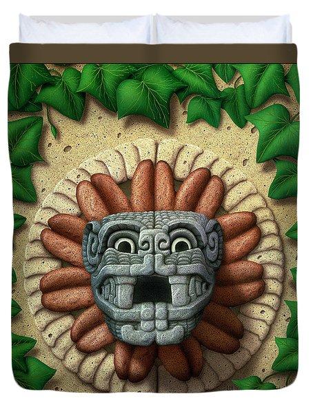 Quetzalcoatl Duvet Cover by WB Johnston