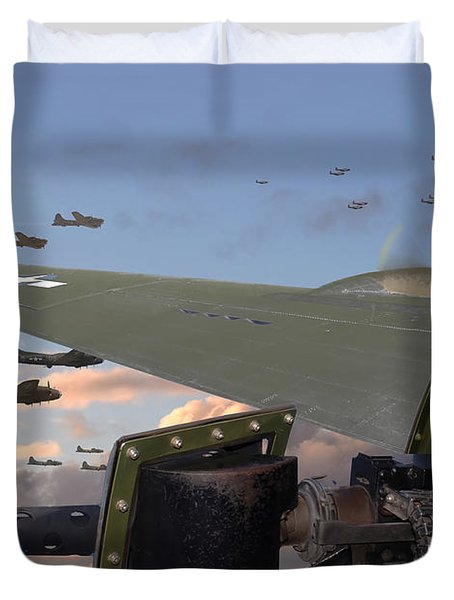 Quiet Before The Storm Duvet Cover by Pat Speirs