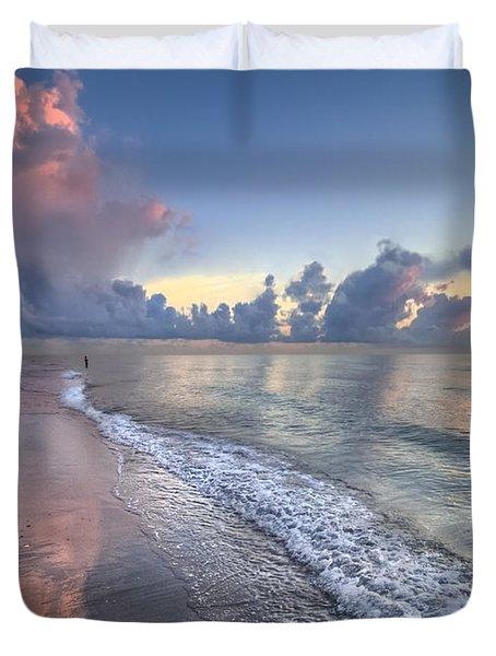 Quiet Morning Duvet Cover by Debra and Dave Vanderlaan