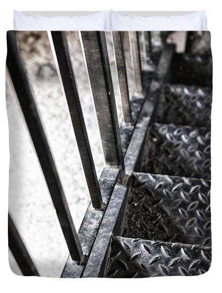 Quiet Stairwell Duvet Cover by Karol Livote