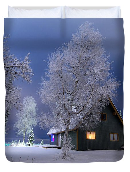 Quiet Winter Times Duvet Cover by Ron Day