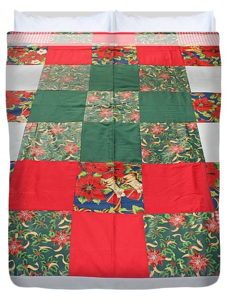 Quilt Christmas Blocks Duvet Cover by Barbara Griffin