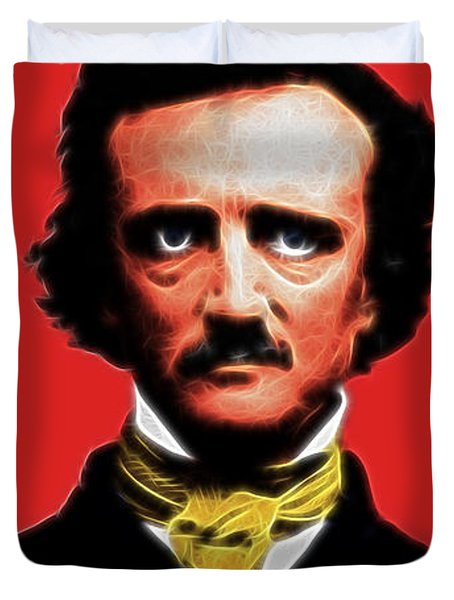 Quoth The Raven Nevermore - Edgar Allan Poe - Electric Duvet Cover by Wingsdomain Art and Photography