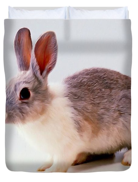Rabbit 2 Duvet Cover by Lanjee Chee