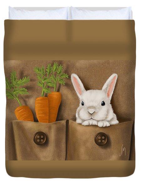 Rabbit Hole Duvet Cover by Veronica Minozzi