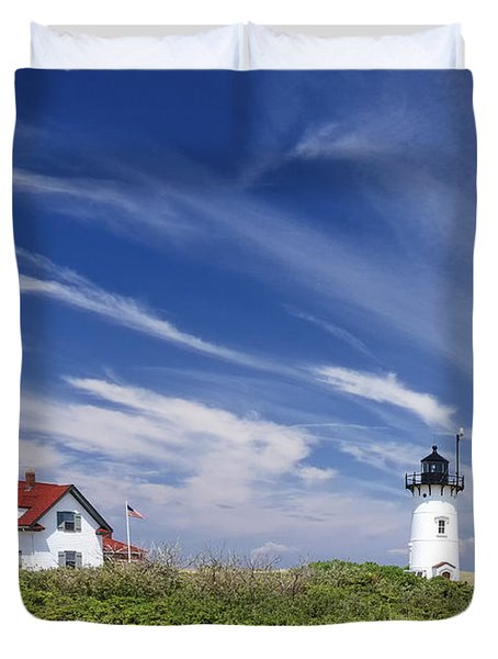 Race point Light Duvet Cover by Bill  Wakeley