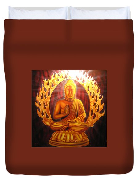 Radiant Buddha  Duvet Cover by Ethan  Foxx