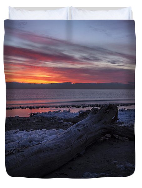 Radiant Rise Duvet Cover by CJ Schmit