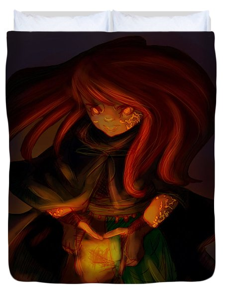 Radiating Light - Original Artwork by Amy Manley  Duvet Cover by Gina Lee Manley