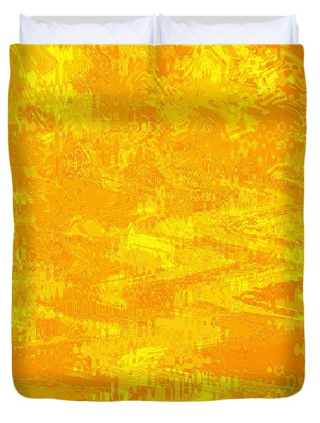 Radiating Sunshine Colors - Abstract Art Duvet Cover by Carol Groenen