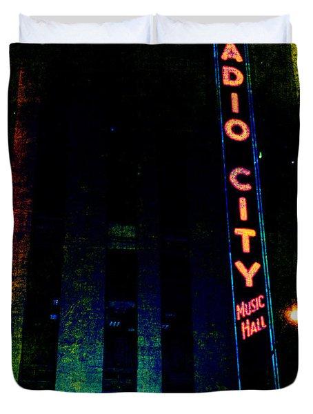 Radio City Grunge Duvet Cover by Joann Vitali