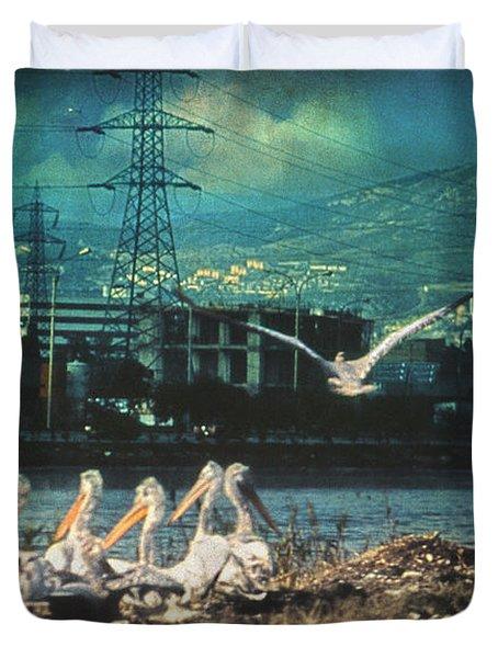 Radioactive Days Duvet Cover by Taylan Soyturk