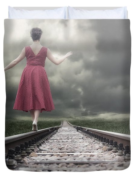 Railway Tracks Duvet Cover by Joana Kruse