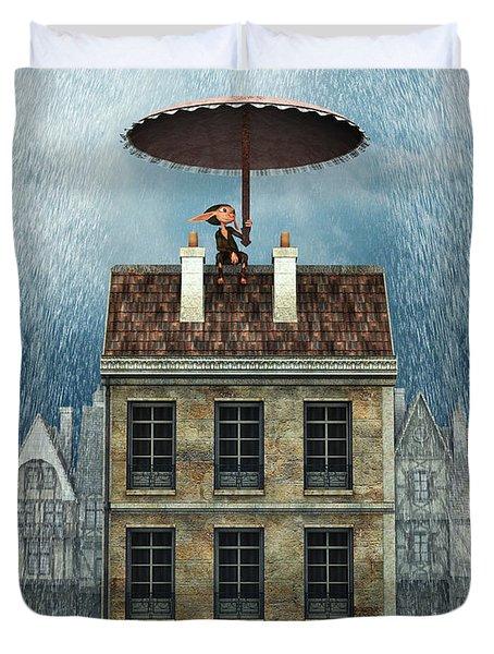 Rain Protection Duvet Cover by Jutta Maria Pusl