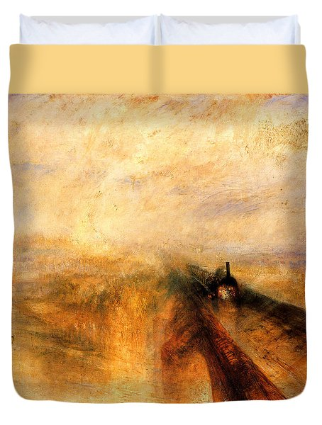 Rain Steam And Speed.  Duvet Cover by J M W Turner