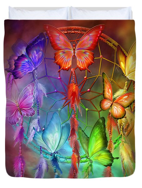 Rainbow Dreams Duvet Cover by Carol Cavalaris