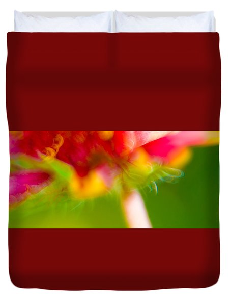 Rainbow Flower Duvet Cover by Darryl Dalton