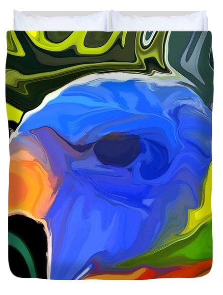 Rainbow Lorikeet Duvet Cover by Chris Butler