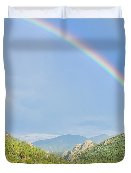 Rainbow Over Rollinsville Duvet Cover by James BO  Insogna