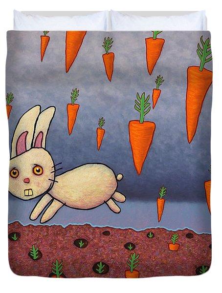 Raining Carrots Duvet Cover by James W Johnson