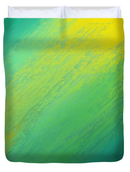 Raining Sunshine - Meteorologist - Meteorology Duvet Cover by Andee Design