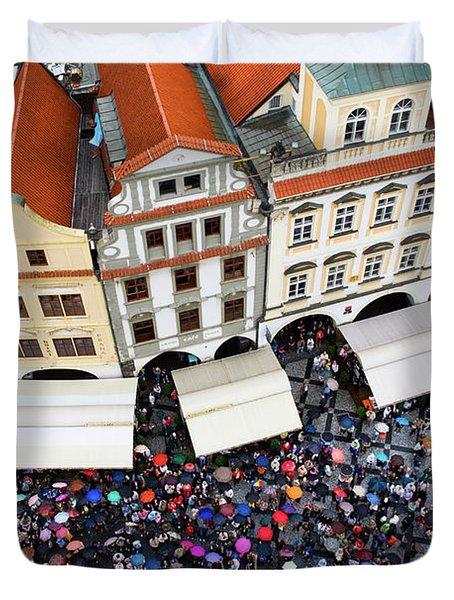 Rainy Day In Prague-1 Duvet Cover by Diane Macdonald
