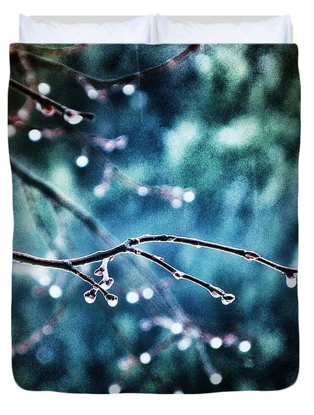 Rainy Day Duvet Cover by Marianna Mills