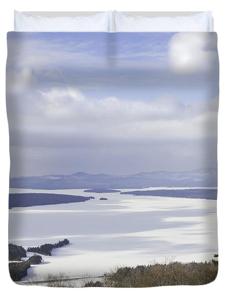 Rangeley Maine Winter Landscape Duvet Cover by Keith Webber Jr