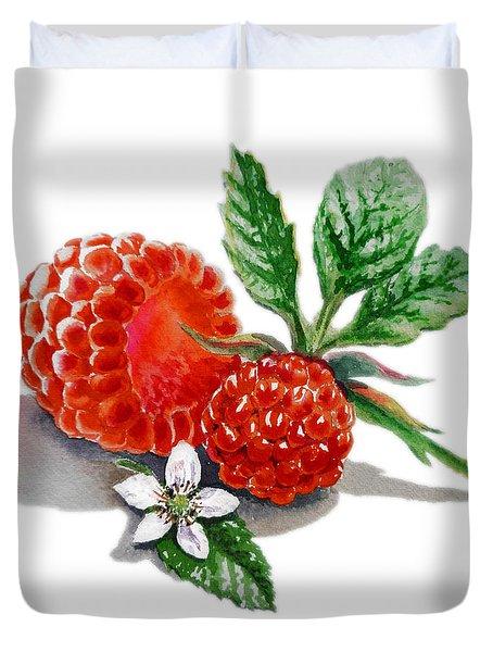 Raspberries  Duvet Cover by Irina Sztukowski