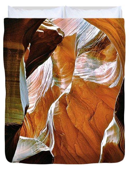 Rattlesnake Canyon Duvet Cover by Ed  Riche