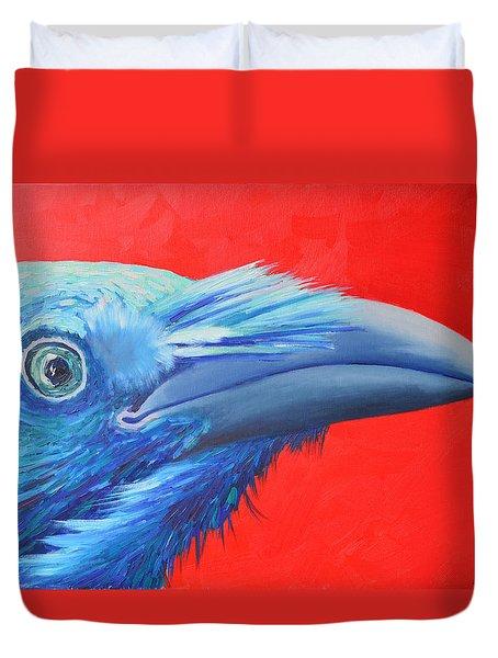 Raven Portrait Duvet Cover by Ana Maria Edulescu