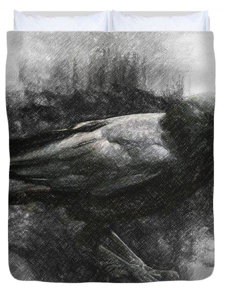 Raven Duvet Cover by Taylan Soyturk