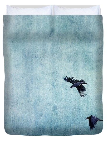 Ravens Flight Duvet Cover by Priska Wettstein