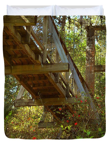 Ravine State Gardens Palatka Florida Duvet Cover by Christine Till