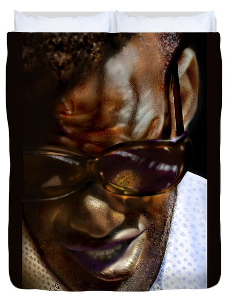Ray Charles-beyond Sight 2 Duvet Cover by Reggie Duffie