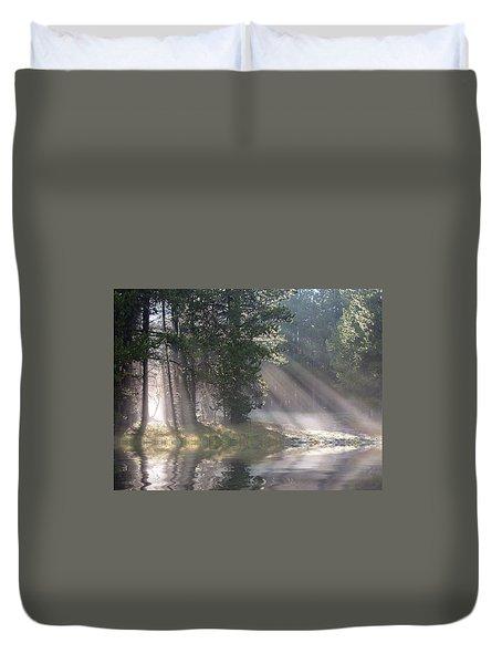 Rays Of Light Duvet Cover by Shane Bechler