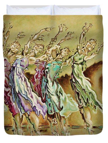 Reach Beyond Limits Duvet Cover by Karina Llergo