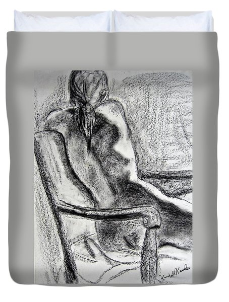 Reaching Out Duvet Cover by Kendall Kessler