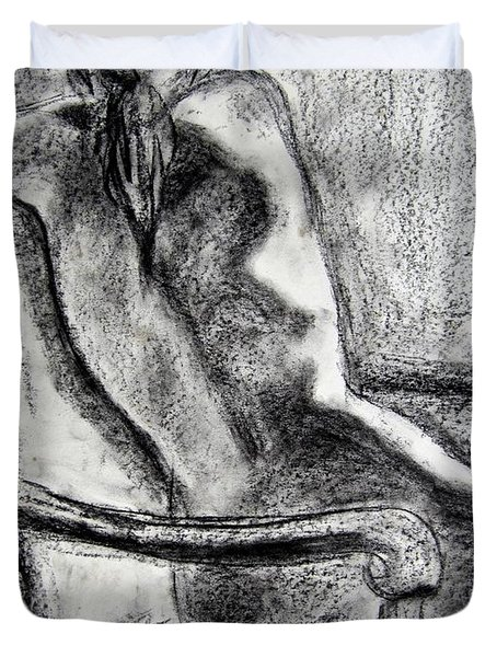 Reaching Out Duvet Cover by Kendall Kessler
