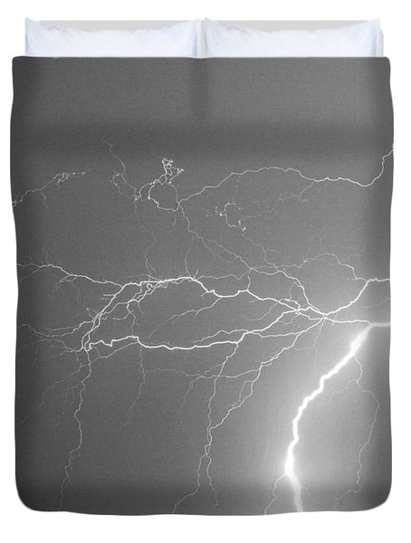 Reaching Out Touching Me Touching You Bw Duvet Cover by James BO  Insogna