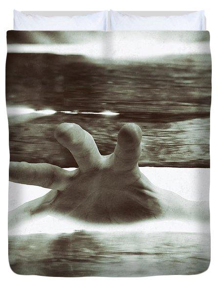 Reaching Out Duvet Cover by Wim Lanclus