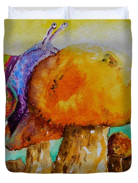 Reaching The Summit Duvet Cover by Beverley Harper Tinsley