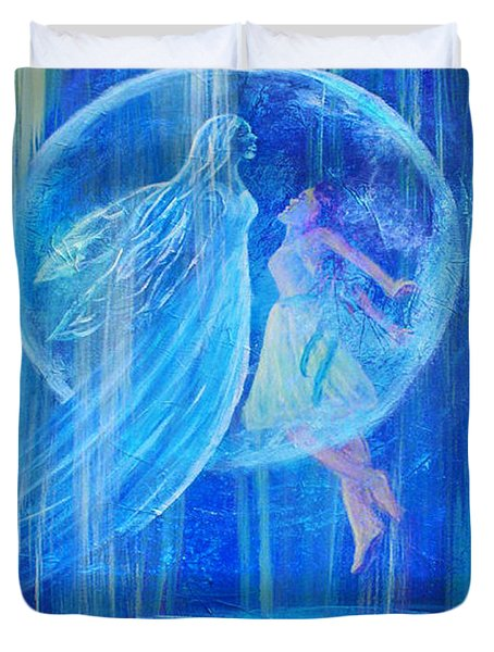 Rebirthing The Sacred Feminine Duvet Cover by The Art With A Heart By Charlotte Phillips