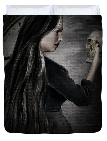 Recognition Of Death Duvet Cover by Lourry Legarde