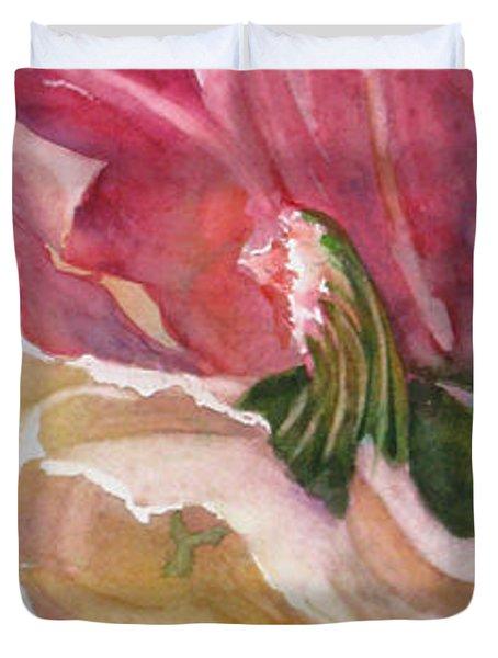 Red-Amber-Green Duvet Cover by Mohamed Hirji