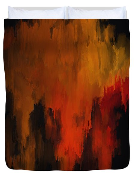 Red And Gold 1 Duvet Cover by Michael Pickett