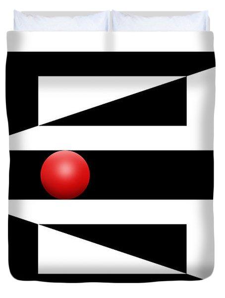 Red Ball 3 Duvet Cover by Mike McGlothlen